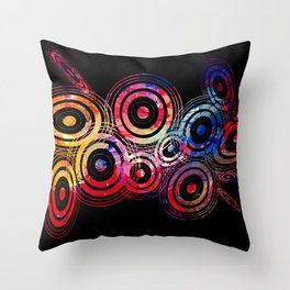 Vector circle shapes of the universe Throw Pillow