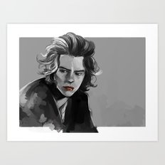 He must be thinking about something silly Art Print