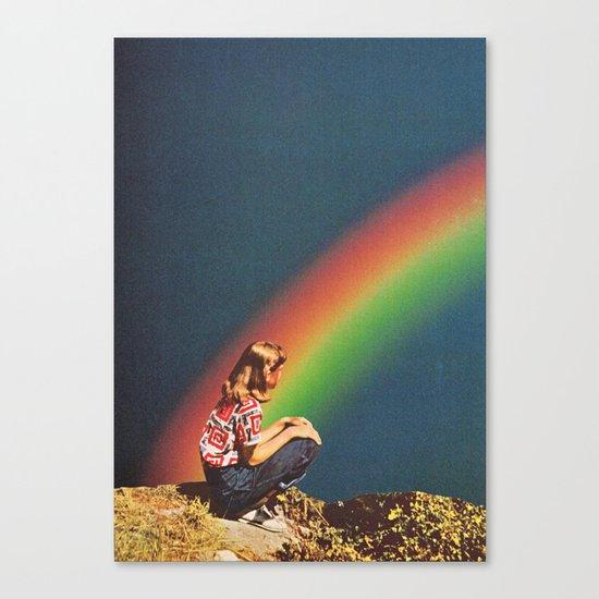 NIGHT RAINBOW Canvas Print