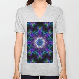 Neon Mandala 2 Unisex V-Neck