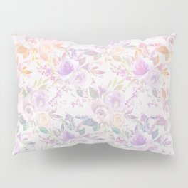 Modern lavender lilac pink watercolor floral Pillow Sham