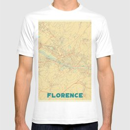 Florence Map Retro T-shirt
