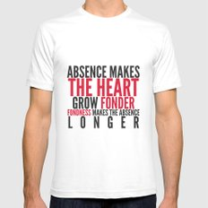 Absence makes the heart grow fonder White SMALL Mens Fitted Tee