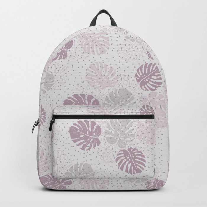 Monstera Lilac Backpack