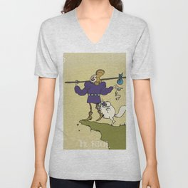 Queer Alchemy: The Fool Unisex V-Neck