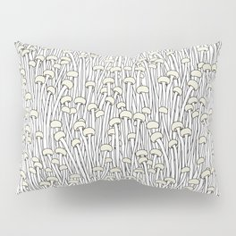 Enokitake Mushrooms (pattern) Pillow Sham