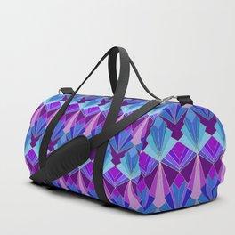 Peacock Art Deco Duffle Bag