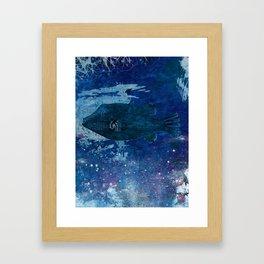 Cosmic fish, ocean, sea, under the water Framed Art Print