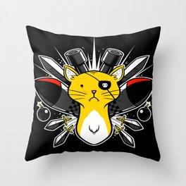 Diabolicat Throw Pillow