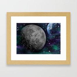 Moon and the Sky Framed Art Print