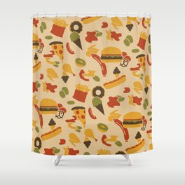 Fast Foodouflage Shower Curtain