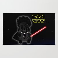 darth Area & Throw Rugs featuring Darth by Afro Pig