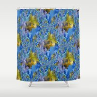ducks Shower Curtains featuring Flowing Ducks.... by Cherie DeBevoise