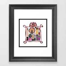 Set of gift make-up Framed Art Print