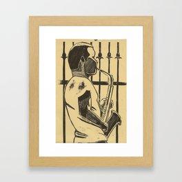 Saxophonist Framed Art Print