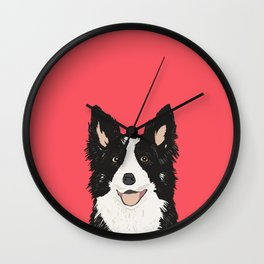 Montana - Border Collie gifts for dog people and dog lovers perfect gifts for a dog person.  Wall Clock