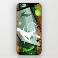 tennis iPhone & iPod Skins featuring Tennis by Robin Curtiss
