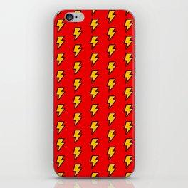 Cartoon Lightning Bolt pattern iPhone Skin
