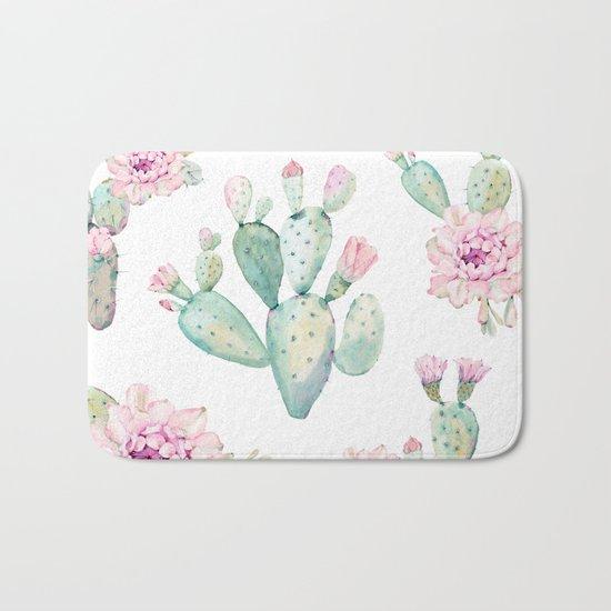 Simply Cactus Rose Bath Mat
