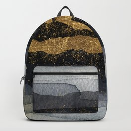 GOLD VEIN Abstract Watercolor Art Nr. 1 Backpack