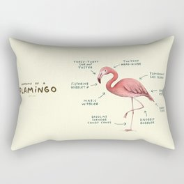 Anatomy of a Flamingo Rectangular Pillow