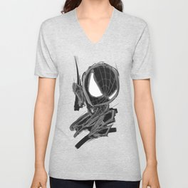 Black Spider Unisex V-Neck