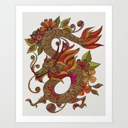 The Dragon Art Print