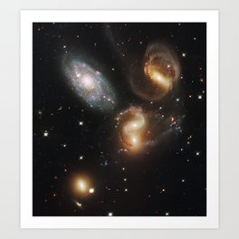 Galactic Wreckage in Stephan's Quintet Art Print