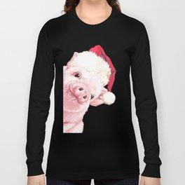 Sneaky Santa Baby Pig Long Sleeve T-shirt