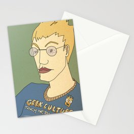 Geek culture / touch me, too Stationery Cards