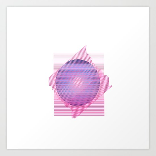Universe in blue&pink Art Print