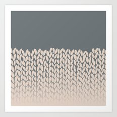 Half Knit Ombre Nat Art Print