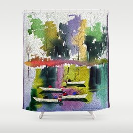 Watercolor Autumn Fishers 3 Shower Curtain