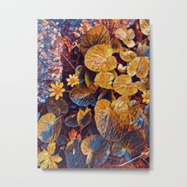 Water wild flower painting floral Metal Print