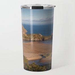 Three Cliffs Bay Gower Travel Mug