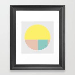 Pastel collection I Framed Art Print