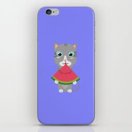 Cat with Melon iPhone Skin