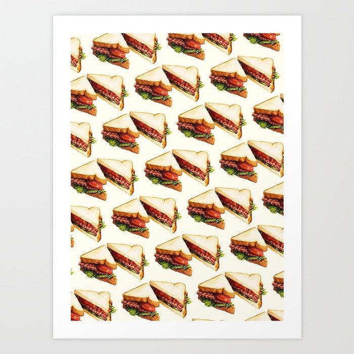 Sandwich Pattern BLT Kunstdrucke
