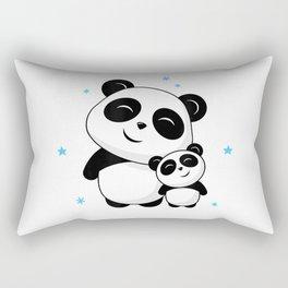 World's Best Big Brother Shirt Cute Panda Pandas Siblings Rectangular Pillow