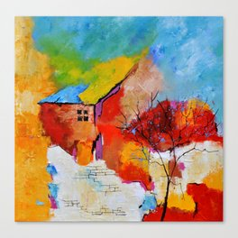 House and tree Canvas Print