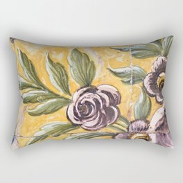 Antique floral ceramic tiles 2 Rectangular Pillow
