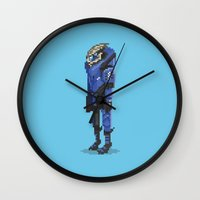 garrus Wall Clocks featuring Mass Effect - Garrus Vakarian by SuperPixelTime!