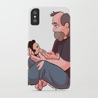 greg guillemin iPhone & iPod Cases featuring Steven Universe: Greg and Steven by Liv Moy