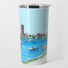 Boca Raton Lake Illustration / Lake Boca Raton Panoramic View Travel Mug