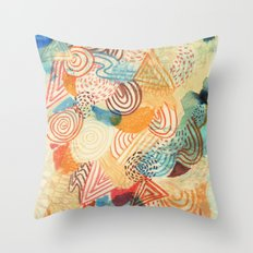 I dream in colors Throw Pillow