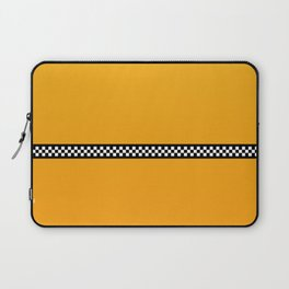 NY Taxi Cab Yellow with Black and White Check Band Laptop Sleeve