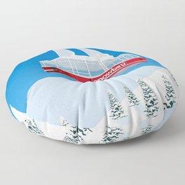 Snowbird Ski Resort Floor Pillow