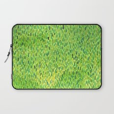 Watercolor Grass Pattern Green by Robayre Laptop Sleeve