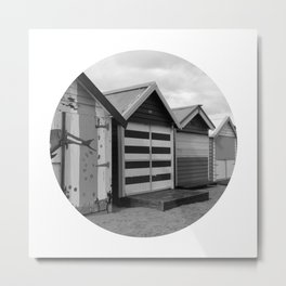 Beach Hut 9 Metal Print