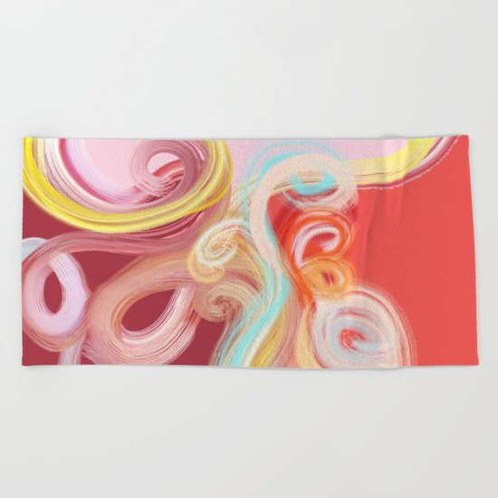 vibrant sea Beach Towel